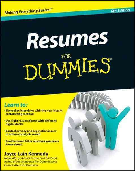 resume writing for dummies Download our free resume writing ebook includes resume writing tips, action verbs and keywords and sample cvs.