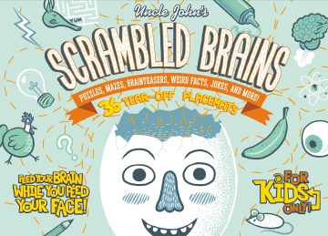 Product Uncle John's Scrambled Brains: Puzzles, Mazes, Brainteasers, Weird Facts, Jokes, and More! 36-Tear-Off Placemats