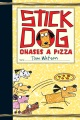 Product Stick Dog Chases a Pizza