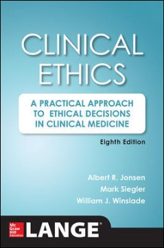 Product Clinical Ethics: A Practical Approach to Ethical Decisions in Clinical Medicine