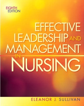Product Effective Leadership and Management in Nursing