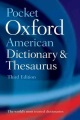 Product Pocket Oxford American Dictionary & Thesaurus