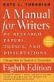 Product A Manual for Writers of Research Papers, Theses, a