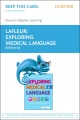 Product Elsevier Adaptive Learning for Exploring Medical Language Access Card