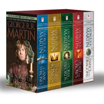 Product A Song of Ice and Fire Set: A Game of Thrones / A Clash of Kings / A Storm of Swords / A Feast for Crows / A Dance With Dragons