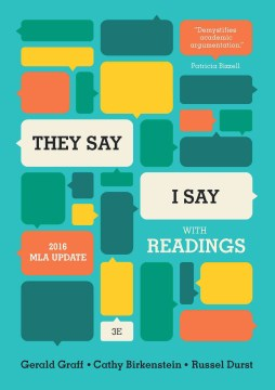 Product They Say / I Say: The Moves That Matter in Academic Writing: With Readings: 2016 MLA Update