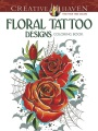 Product Floral Tattoo Designs Adult Coloring Book