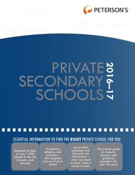 Product Private Secondary Schools 2016-2017