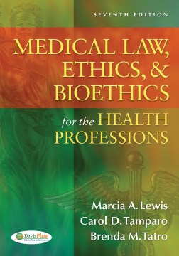 Product Medical Law, Ethics, & Bioethics for the Health Professions