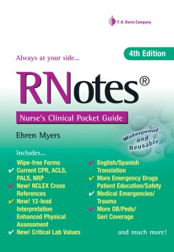 Product RNotes: Nurse's Clinical Pocket Guide