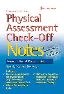 Product Physical Assessment Check-off Notes