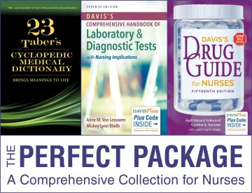 Product Tabers Cyclopedic Medical Dictionary + Davis's Drug Guide for Nurses + Davis's Comprehensive Handbook of Laboratory & Diagnostic Tests With Nursing Implications
