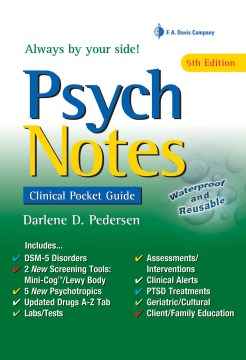 Product Psychnotes: Clinical Pocket Guide