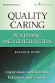 Product Quality Caring in Nursing and Health Systems