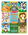 Product Make-a-Face Sticker Pad - Crazy Animals