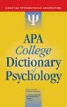 Product APA College Dictionary of Psychology