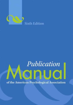 Product Publication Manual of the American Psychological Association