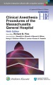 Product Handbook of Clinical Anesthesia Procedures of the Massachusetts General Hospital