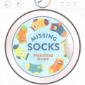 Product Missing Socks Matching Game