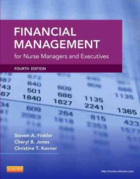Product Financial Management for Nurse Managers and Executives