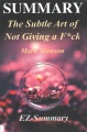 Product The Subtle Art of Not Giving a F*ck: A Counterintuitive Approach to Living a Good Life