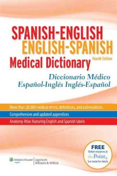 Product Spanish-English English-Spanish Medical Dictionary/ Diccionario Medico Espanol-Ingles Ingles-Espanol