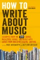 Product How to Write About Music