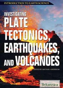 Investigación de la tectónica de placas, terremotos y volcanes, portada del libro